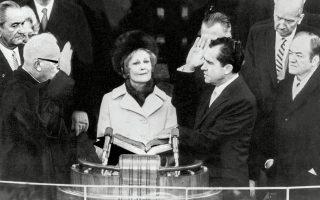 Η ορκωμοσία του Ρίτσαρντ Νίξον ως προέδρου, Ιανουάριος 1969.