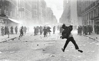 Οι μεγάλες διαδηλώσεις και οι συγκρούσεις με την αστυνομία καθόρισαν την καθημερινή ζωή στο Παρίσι σε όλη σχεδόν τη διάρκεια του Μάη του 1968.