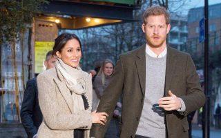 Ο Βρετανός πρίγκιπας Χάρι και η Αμερικανίδα αρραβωνιαστικιά του Μέγκαν Μαρκλ.