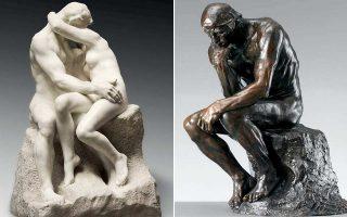 Το «Φιλί»  (αριστερά) και ο «Σκεπτόμενος» (δεξιά) είναι δύο από τα έργα του Ροντέν που θα παρουσιαστούν στο Βρετανικό Μουσείο.