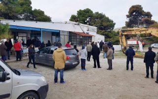 Ομάδα πολιτών είχε συγκεντρωθεί χθες στον χώρο, προσπαθώντας να εμποδίσει την κατεδάφιση της ταβέρνας.