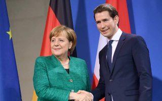 Ο Αυστριακός καγκελάριος  Σεμπάστιαν  Κουρτς επισκέφθηκε χθες την Αγκελα Μέρκελ στο   Βερολίνο.