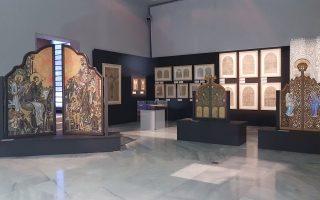 Η έκθεση «Τέμπλον. Αγιες μορφές, αόρατες πύλες πίστης. 20ός και 21ος αιώνας» παρουσιάζει ένα πανόραμα της νεοελληνικής θρησκευτικής ζωγραφικής τέχνης.