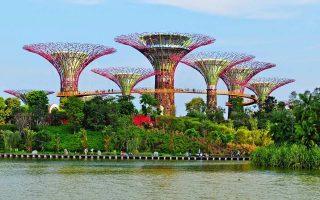 Οι κήποι της Σιγκαπούρης συμβάλλουν στο αυξημένο ποσοστό πρασίνου.