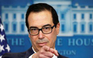 Ο υπουργός Οικονομικών Στίβεν Μνούτσιν υπογράμμισε ότι το φθηνό δολάριο συμφέρει την αμερικανική οικονομία.