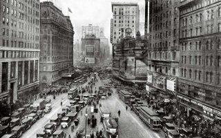 H Times Square στη Νέα Υόρκη στις αρχές του 1930. Το τελευταίο μυθιστόρημα του Ντάσιελ Χάμετ διαδραματίζεται αυτήν την περίοδο στη Νέα Υόρκη.