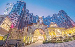 Από τη λειτουργία των πέντε καζίνο το κυπριακό ΑΕΠ πρόκειται να αυξηθεί κατά 700 εκατ. ευρώ. Στη φωτογραφία, το «Studio City» που λειτουργεί η Melco Resorts Entertainment στο Μακάο.