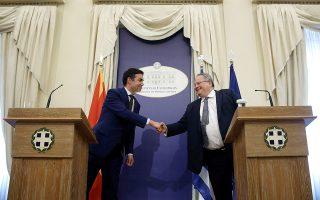 Η διαδικασία απευθείας επαφών ανάμεσα στους δύο υπουργούς Εξωτερικών Ελλάδας και ΠΓΔΜ, Νίκο Κοτζιά και Νικόλα Ντιμιτρόφ, θα επαναληφθεί στις αρχές Φεβρουαρίου.