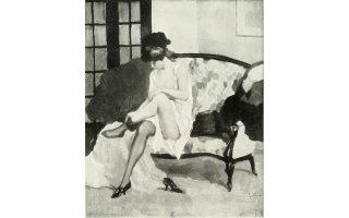 «Ημίγυμνο», έργο του Γερμανού ζωγράφου Βίλχελμ Γκάλχοφ (1878-1918). Θα μπορούσε να είναι ηρωίδα του Γκι ντε Μοπασάν...