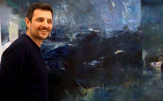 Ο ζωγράφος μπροστά στο έργο του «Το δωμάτιο».