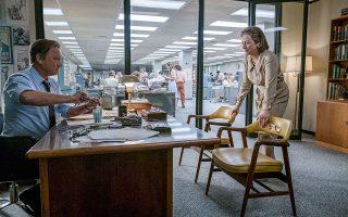 Ο Τομ Χανκς ενσαρκώνει τον Μπεν Μπράντλι και η Μέριλ Στριπ υποδύεται την Κάθριν Γκρέιαμ στην ταινία του Στίβεν Σπίλμπεργκ «The Post: απαγορευμένα μυστικά».
