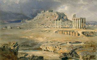Άποψη της Αθήνας από τις όχθες του Ιλισού, 1835.