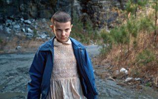 «Stranger Things»: Η αινιγματική Eleven (Εντεκα) εν δράσει.