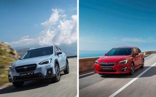 Πέντε αστέρια στην ασφάλεια για τα Subaru XV (αριστερά) και Impreza.