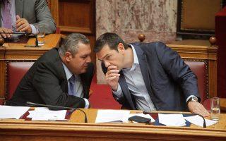 Ο Αλέξης Τσίπρας εκτιμά πως, εάν επέλθει συμφωνία με την ΠΓΔΜ, αυτή θα κυρωθεί χωρίς προβλήματα από τη Βουλή, ανεξαρτήτως της στάσης που θα τηρήσει το κόμμα του Πάνου Καμμένου, καθώς απαιτείται απλή πλειοψηφία. Τα δύσκολα για τους δύο κυβερνητικούς εταίρους θα έρθουν μετά...