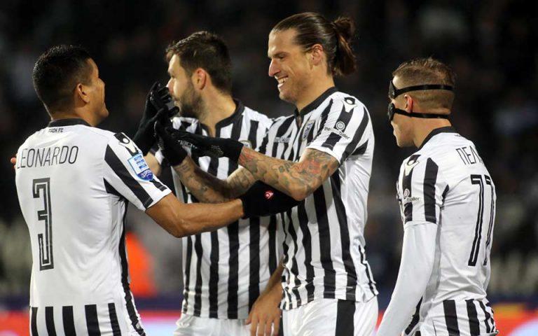 Σούπερ Λιγκ: Ξανά κορυφή ο ΠΑΟΚ, 3-0 τη Λάρισα