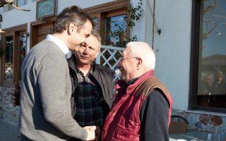 Ο πρόεδρος της Ν.Δ. Κυρ. Μητσοτάκης, από την Εύβοια, έκανε λόγο για «τοξικότητα της πολιτικής ζωής».