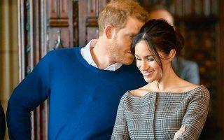 Ο πρίγκιπας Χάρι και η Μέγκαν Μαρκλ. (Φωτογραφία: Ben Birchall/Pool Photo via AP)
