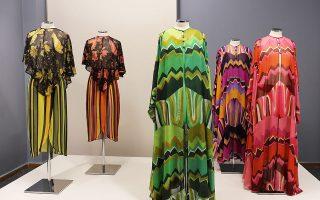 Μερικά από τα φουστάνια του Γιάννη Τσεκλένη είχαν στηθεί στον φιλόξενο χώρο του Πελοποννησιακού Λαογραφικού Ιδρύματος στην Κανάρη 4.