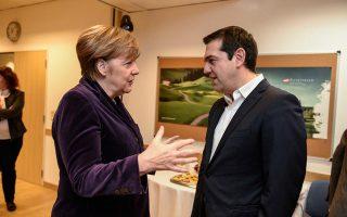 Στιγμιότυπο από παλαιότερη συνάντηση της καγκελαρίου Άγκελα Μέρκελ με τον πρωθυπουργό Αλέξη Τσίπρα.