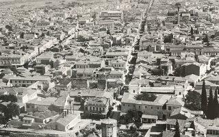 Θέα προς την Αιόλου και την Πατησίων τη δεκαετία του 1880.