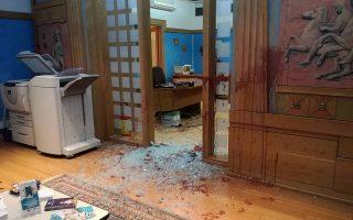 Από την επίθεση στην πρυτανεία του ΠΑΜΑΚ. Λίγα πανεπιστήμια και ΤΕΙ έστειλαν έως τώρα προτάσεις στην επιτροπή για την αντιμετώπιση της βίας στα ΑΕΙ, που συνεδρίασε χθες.