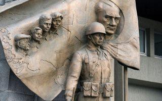 Ανάγλυφη αναπαράσταση του Κεμάλ Ατατούρκ στο αρχηγείο στρατού της Τουρκίας στην Αγκυρα.