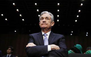 «Παρατηρούμε ότι παραμένει ισχυρή η αγορά εργασίας. Εχουμε δει ορισμένα στοιχεία που ενισχύουν την άποψη πως ο πληθωρισμός κινείται προς τον στόχο», είπε ο νέος πρόεδρος της Fed Τζερόμ Πάουελ.