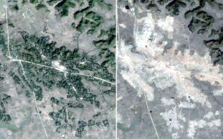 Δορυφορικές εικόνες απεικονίζουν το πριν και μετά της κατεδάφισης μεγάλων εκτάσεων στην δυτική Μιανμάρ όπου βρίσκονταν δεκάδες χωριά των Ροχίνγκια.