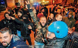 Συγκρούσεις ανάμεσα στην αστυνομία και τους νεοφασίστες της Forza Nuova χθες στη Ματσεράτα. Σήμερα αναμένεται πολύ μεγαλύτερη διαδήλωση αντιφασιστικών και αριστερών οργανώσεων.