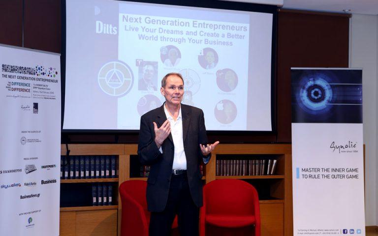 Robert Dilts στους Έλληνες: Τολμήστε να σκεφθείτε σαν τους game changers και κάνετε τη διαφορά στο δικό σας περιβάλλον