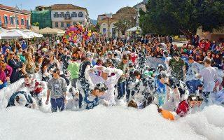 Οι αναπλιώτικες εκδηλώσεις περιλαμβάνουν και πολύ παιχνίδι. (Φωτογραφία: © EPA/BOUGIOTIS VANGELIS)