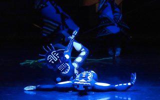 Σκηνή από το μπαλέτο «Η δημιουργία του κόσμου» του Νταριούς Μιγιό (φωτ.: Χ. Ακριβιάδης).