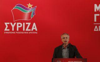O γραμματέας του ΣΥΡΙΖΑ, Πάνος Ρήγας, μιλάει κατά τη διάρκεια της συνεδρίασης της Κεντρικής Επιτροπής του ΣΥΡΙΖΑ σε κεντρικό ξενοδοχείο της Αθήνας, την Παρασκευή 19 Ιανουαρίου 2018. ΑΠΕ ΜΠΕ/ΑΠΕ ΜΠΕ/ΑΛΕΞΑΝΔΡΟΣ ΒΛΑΧΟΣ