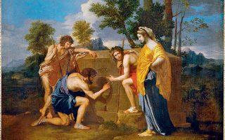 «Et in Arcadia ego»: Βοσκοί της Αρκαδίας, πίνακας του Γάλλου ζωγράφου Νικολά Πουσέν (1594-1665), φιλοτεχνημένος στα 1637-38.