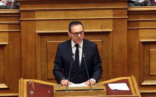 Ο διοικητής της Τράπεζας της Ελλάδας Γιάννης Στουρνάρας μιλάει στη συζήτηση και ψηφοφορία επί της προτάσεως της κυβερνητικής πλειοψηφίας για τη συγκρότηση επιτροπής προκαταρκτικής εξέτασης για την υπόθεση NOVARTIS, Τετάρτη 21 Φεβρουαρίου 2018. ΑΠΕ-ΜΠΕ/ΑΠΕ-ΜΠΕ/Αλέξανδρος Μπελτές
