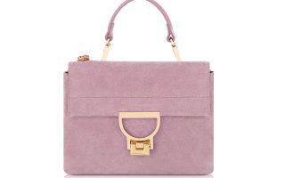 Suede τσάντα σε ανοιχτό μωβ χρώμα €270,00
