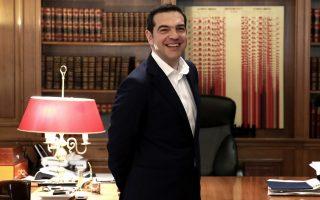 Ο πρωθυπουργός Αλέξης Τσίπρας αναμένει τον επικεφαλής του Ποταμιού Σταύρο Θεοδωράκη για συνάντηση στο Μέγαρο Μαξίμου για ενημέρωση σχετικά με το περιεχόμενο των συναντήσεων του πρωθυπουργού στο Νταβός, Αθήνα, Σάββατο 27 Ιανουαρίου 2018. ΑΠΕ-ΜΠΕ/ΑΠΕ-ΜΠΕ/ΣΥΜΕΛΑ ΠΑΝΤΖΑΡΤΖΗ