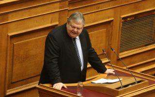 Ο βουλευτής της Δημοκρατικής Συμπαράταξης Ευάγγελος Βενιζέλος  μιλάει στη σημερινή συζήτηση του πολυνομοσχεδίου «Ρυθμίσεις για την εφαρμογή των διαρθρωτικών μεταρρυθμίσεων του Προγράμματος Οικονομικής Προσαρμογής και άλλες διατάξεις