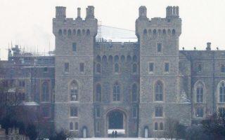 Το Παλάτι του Ουίνδσορ καλυμμένο με χιόνι μετά την κακοκαιρία των τελευταίων ημερών στην Αγγλία.