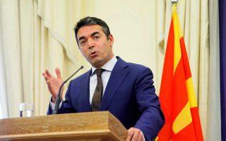 Ο υπουργός Εξωτερικών της ΠΓΔΜ Νίκολα Ντιμιτρόφ ανέφερε πως κάποιες ελληνικές θέσεις πλησιάζουν τον παραλογισμό.