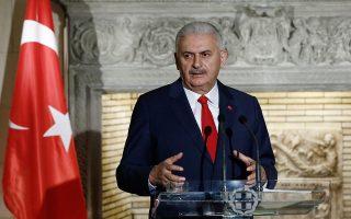 Την ενόχλησή του για την πρωτοβουλία της Αθήνας να παρουσιάσει το ζήτημα κράτησης των δύο στρατιωτικών στον Εβρο ενώπιον της Ε.Ε. εξέφρασε ο πρωθυπουργός της Τουρκίας Μπιναλί Γιλντιρίμ.