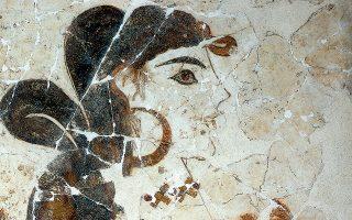 Οι περισσότεροι Ελληνες (62%) απαντούν ότι είναι ελάχιστες οι πληροφορίες, όπως και η δέουσα προσοχή στην προβολή της ελληνικής κληρονομιάς. Στη φωτογραφία, τοιχογραφία από το Ακρωτήρι της Θήρας.
