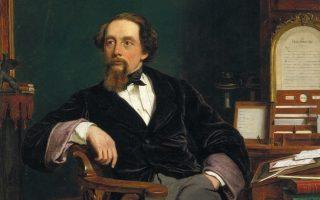 Πορτρέτο του Τσαρλς Ντίκενς από τον Ουίλιαμ Πάουελ Φριθ (1859). Ανήκει στο Μουσείο Βικτώρια και Αλμπερτ.