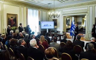 Από την παρουσίαση του προγράμματος χθες στο Μέγαρο Μαξίμου.  Ο προϋπολογισμός αναμένεται να υπερβεί τα 200 εκατ. ευρώ.