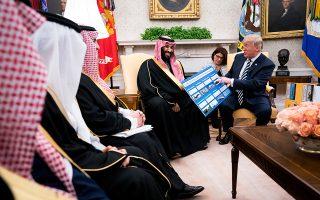 Ο διάδοχος του θρόνου της Σαουδικής Αραβίας, πρίγκιπας Μοχάμεντ μπιν Σαλμάν συναντήθηκε την Τρίτη στον Λευκό Οίκο με τον Ντόναλντ Τραμπ.
