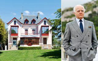 Η οικογενειακή «villa des Rhumbs» στην Γκρανβίλ της Νορμανδίας, όπου το 1905 γεννήθηκε ο Κρ. Ντιόρ (φωτ. πορτραίτου Θάλεια Γαλανοπούλου).