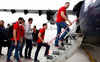 Ο Ολυμπιακός αναχώρησε χθες για τη Χίο, όπου θα διεξαχθεί το φάιναλ 4 του Κυπέλλου με τη Βουλιαγμένη, τη Γλυφάδα και τον Πανιώνιο.