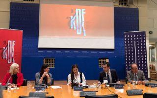 Από αριστερά: κα Aναστασία Μπελογιάννη, Πρόεδρος της Κοινωφελούς Δημοτικής Επιχείρησης