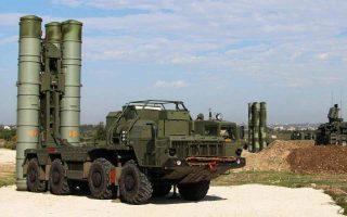 Αντιαεροπορικό σύστημα S-400, τοποθετημένο στην αεροπορική βάση του Χμεϊμίμ. Η ρωσική βάση βρίσκεται στην επαρχία της Λαττάκειας, στη δυτική Συρία.